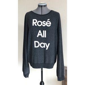 WILDFOX Rose All Day Sweatshirt Sweater Gray